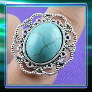 Jewelry - Turquoise Resin Tibet Ring